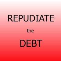 repudiate the debt